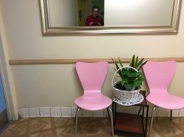 Selfie en baño de restaurant japonés, Little Tokyo